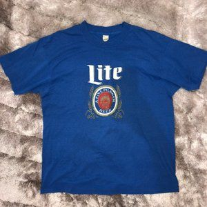 Vintage 1980's MILLER LITE Beer Screen Stars Shirt